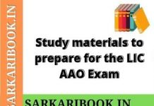 Study Materials for the LIC AAO Exam